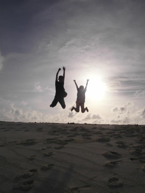 Jump shot at Maldives